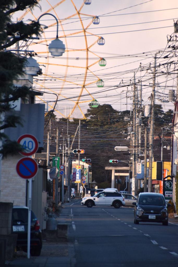 華蔵寺公園への道中