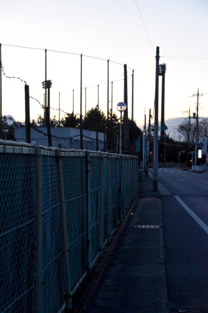 球場への道