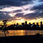 新木場から見た夕日